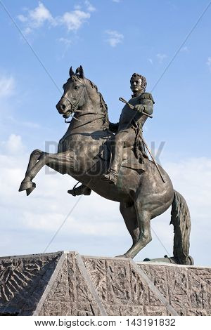 ORYOL, RUSSIA - JULY 27:Monument to General Alexey Ermolov, a hero of the Russian-French war of 1812, is opened in his native city of Oryol on July 27, 2012. Author of a monument is Ravil Yusupov.