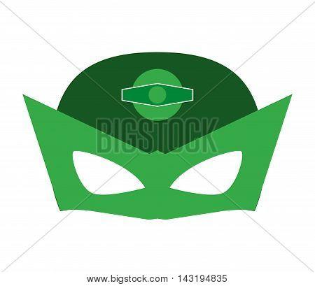 mask costume superhero superman hero cartoon anime male icon. Flat and Isolated illustration. Vector illustration