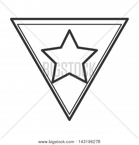 star shield superhero superman hero anime icon. Flat and Isolated illustration. Vector illustration