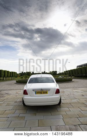 Westhampnett, United Kingdom - August 11: Rolls-royce Ghost In Front Of The Goodwood Plant On August