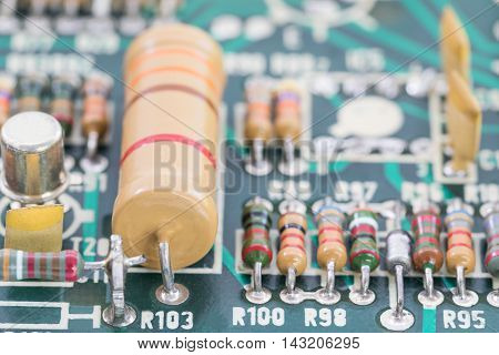 Close Up Electronic Circuit Board