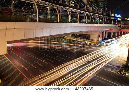 BANGKOK, THAILAND - August 18, 2016: Chong Nonsi Station is a BTS sky-train station on August 18, 2016 in Bangkok, Thailand.