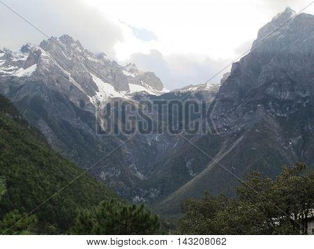 Blue Moon Valley in Jade Dragon Snow Mountain Lijiang Yunnan China