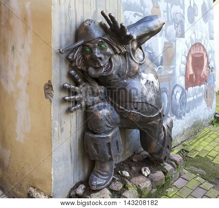 ST. PETERSBURG, RUSSIA - AUGUST 17, 2016: Photo of Cannibal - fairy-tale characters,
