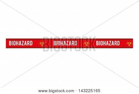 tape biohazard dont cross security warning precaution restricted safety vector illustration
