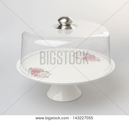 Cake Stand Or Dessert Stand On A Backgeound.
