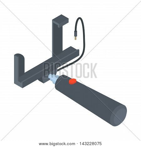 Selfie stick icon in cartoon style isolated on white background. Device symbol