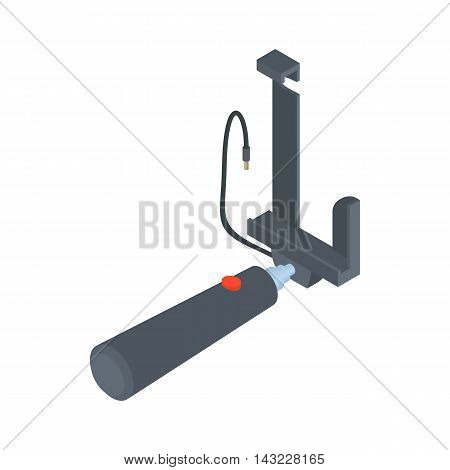 Selfie stick for photos icon in cartoon style isolated on white background. Device symbol
