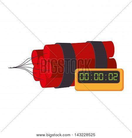 tnt explode dynamite explosion bomb danger vector illustration