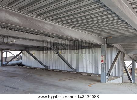 Empty space of indoor car parking lot