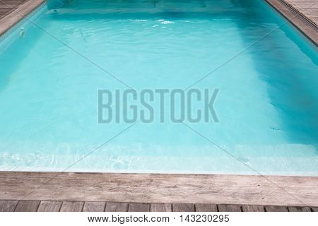 Outdoor In Ground Residential Swimming Pool In Backyard