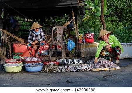 Food Stalls, Outdoor Fish Market