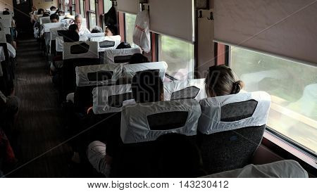 Vietnamese Passenger In  Train, Public Transport
