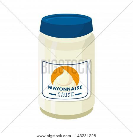 mayonnaise sauce appetizer product flavor mayo vector illustration