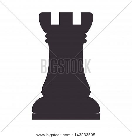 chess piece game win rook chessboard strategy vector illustration