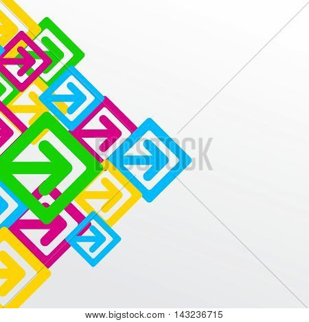 Vector Creative Colorful Contemporary Arrow Sign Web Background