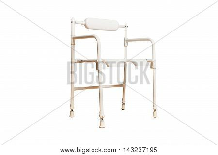 medical chair with a hole for a toilet for disabled people isolated