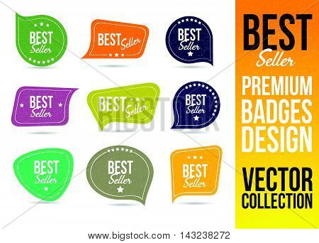 Best Seller Logo Badge and Emblem in Flat Design Style.