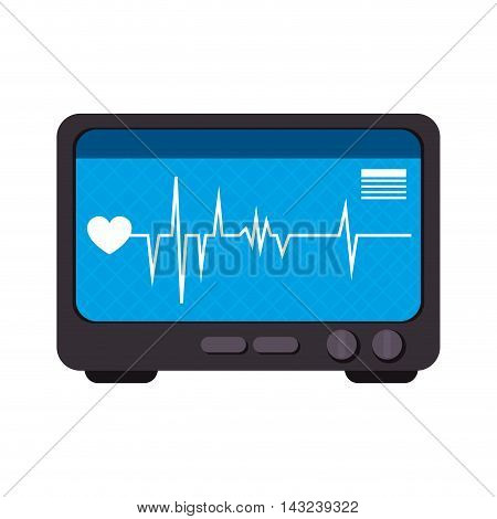 medical device cardiology machine heart control technology vector illustration