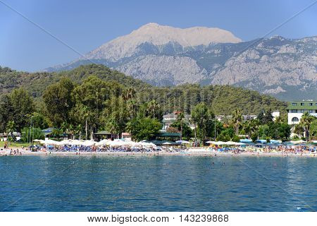 Turkey, Kemer Beach Resort, view from the sea