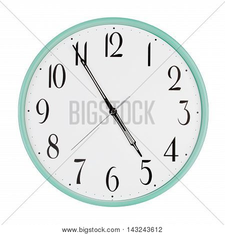 Almost five hours on a large round clock