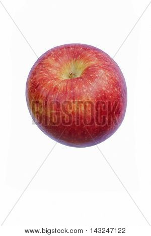 Scilate apple (Malus domestica Scilate). Hybrid between Royal Gala and Braeburn apples. Known as Envy apple also. Image of single apple isolated on white background
