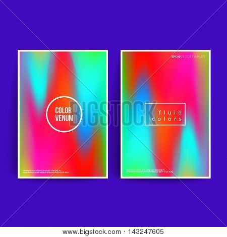 Shiny artistic posters. Cool fluid colors. Applicable for covers, posters, banners,brochure etc. Eps10 vector template.