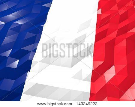 Flag Of New Caledonia 3D Wallpaper Illustration