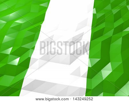Flag Of Nigeria 3D Wallpaper Illustration
