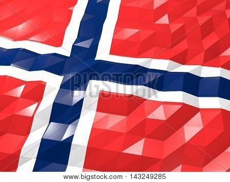 Flag Of Norway 3D Wallpaper Illustration