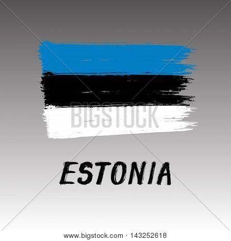 Flag Of Estonia  - Color Grunge Icon