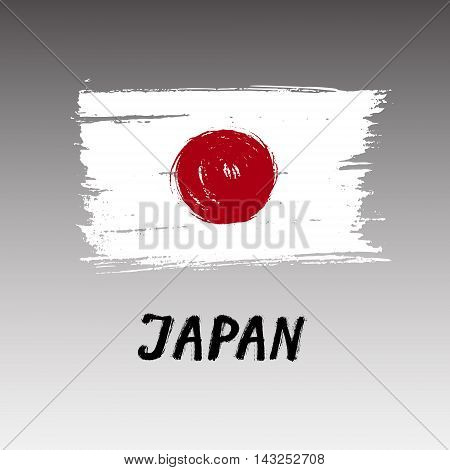 Flag Of Japan  - Color Grunge Icon