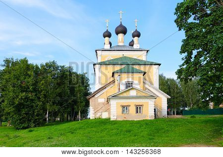 Church of Holy Martyrs Florus and Laurus summer landscape Uglich Russia