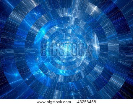 Interstellar warp travel computer generated abstract background