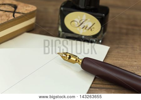 ink set used to write letters with the seal stamp