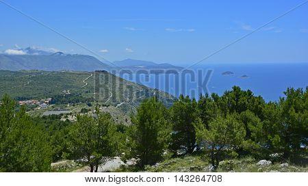 The landscape near to Dubrovnik in Croatia.