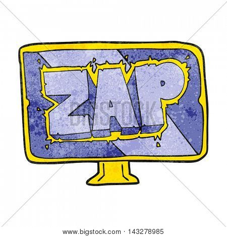 freehand textured cartoon zap screen