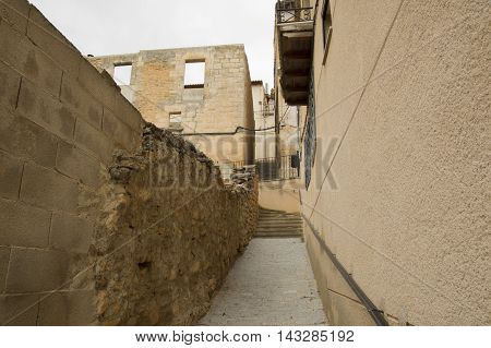 Walking through the streets of Monroyo in Teruel, Aragon, Spain.