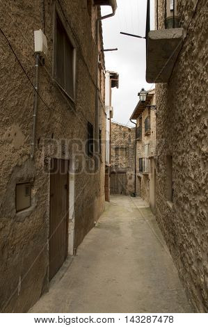 Streets of Beceite in Teruel, Aragon, Spain.