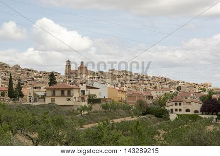 Landscape in Calaceite in Teruel, Aragon, Spain.