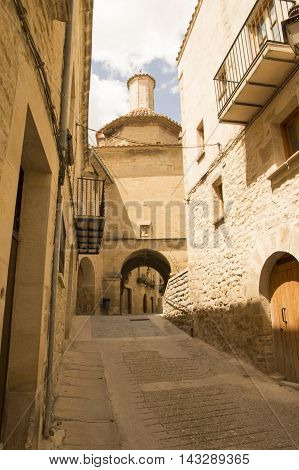 Strolling through Calaceite in Teruel, Aragon, Spain.