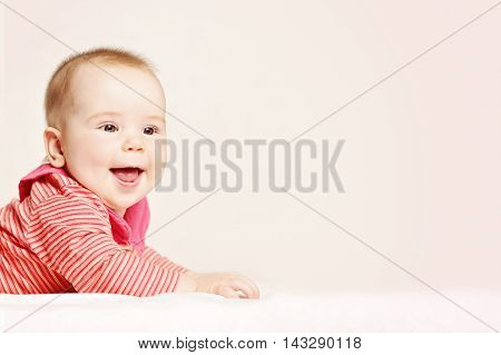 Happy Baby on Background. Cute Little Baby 6 months