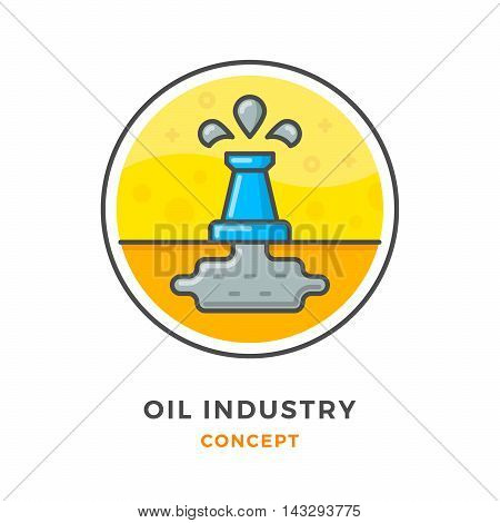 Oil industry concept isolated on white. Vector illustration