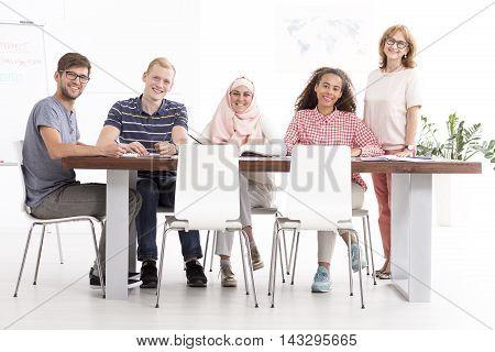 Language Course In Multicultural Team