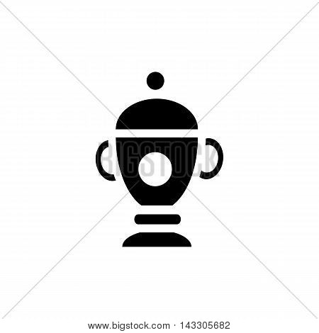 Funeral urn icon in simple style on a white background