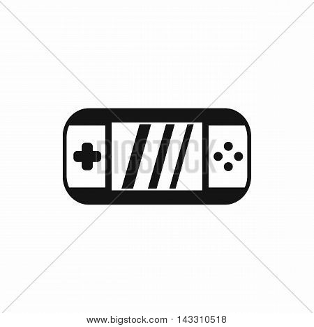 Portable video game console icon in simple style on a white background