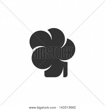 Chef hat logo silhouette design template isolated on a white background. Simple concept icon for web, mobile and infographics. Abstract symbol, sign, pictogram, illustration - stock vector