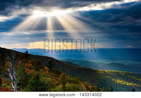 Shenandoah National Park  Last Rays of Light