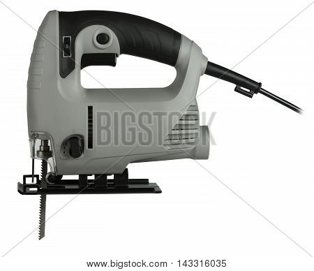 new professional jig saw on a white background