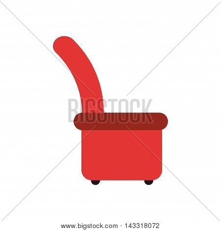 flat design arm chair icon vector illustration